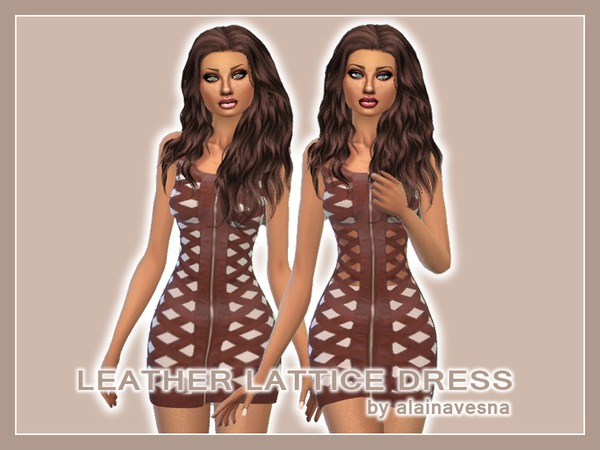 Leather Mini Dresses by alainavesna at TSR image 3522 Sims 4 Updates