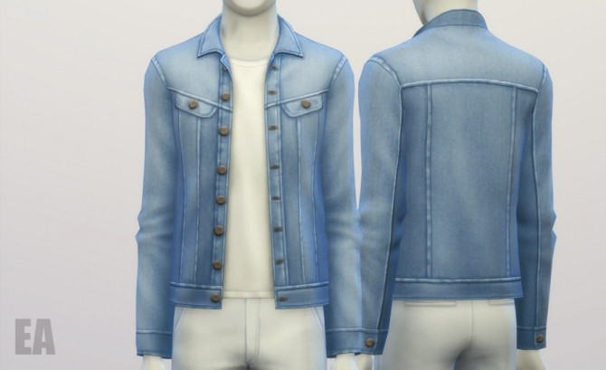 Denim jacket (9 colors) at Rusty Nail image 356 670x409 Sims 4 Updates
