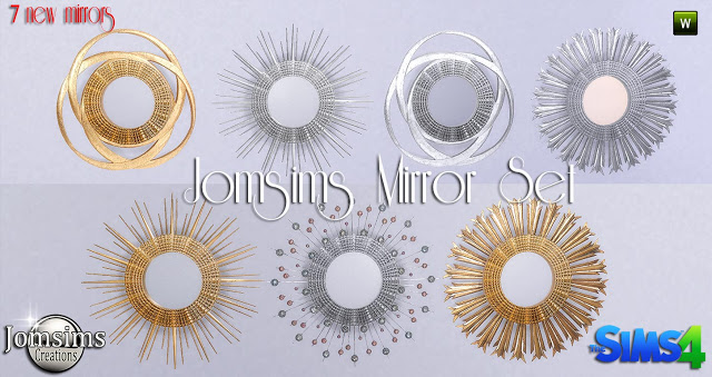 Sims 4 Mirror set at Jomsims Creations