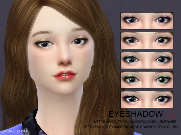Eyeshadow 04 by S Club WM at TSR image 36 Sims 4 Updates
