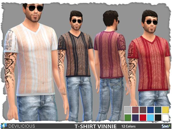 Sims 4 T Shirt Vinnie V2 by Devilicious at TSR