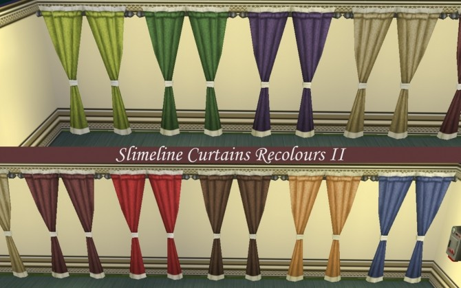 Sims 4 4 Sets of Curtain Recolours by Simmiller at Mod The Sims