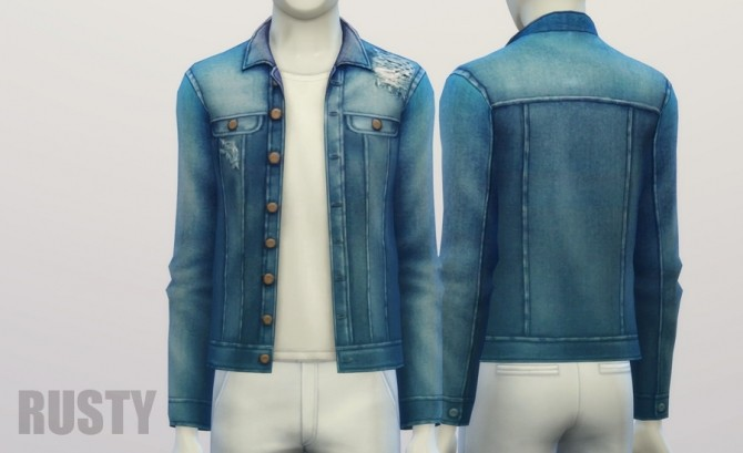 Denim jacket (9 colors) at Rusty Nail image 367 670x409 Sims 4 Updates