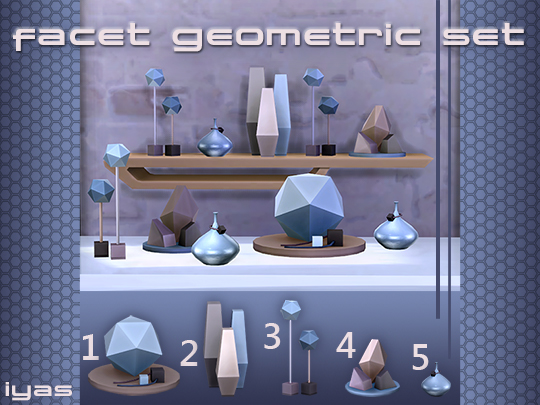 Sims 4 Facet Geometric set at Soloriya