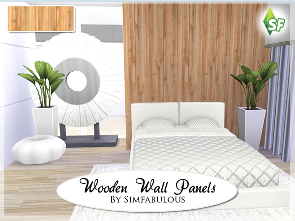 Sims 4 Wooden Wall Panels by SimFabulous at TSR