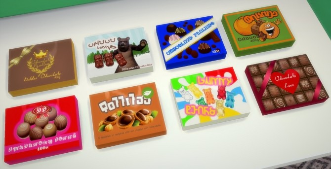 Sims 4 Chocolate Boxes at Budgie2budgie