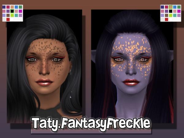 Sims 4 Fantasy Freckles by Taty at TSR