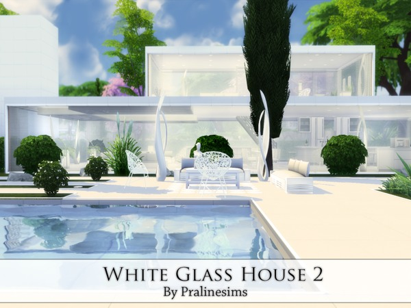 White Glass House 2 by Pralinesims at TSR image 3815 Sims 4 Updates