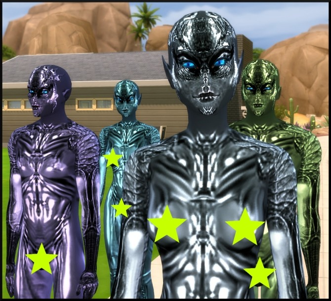 SPECIES Skin textures for Aliens by Tanja1986 at Mod The Sims image 3818 670x611 Sims 4 Updates