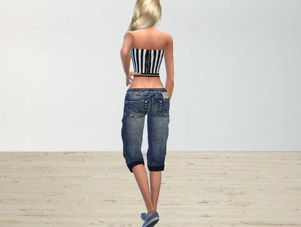 Sims 4 Boyish Set jeans + tops by Puresim at TSR