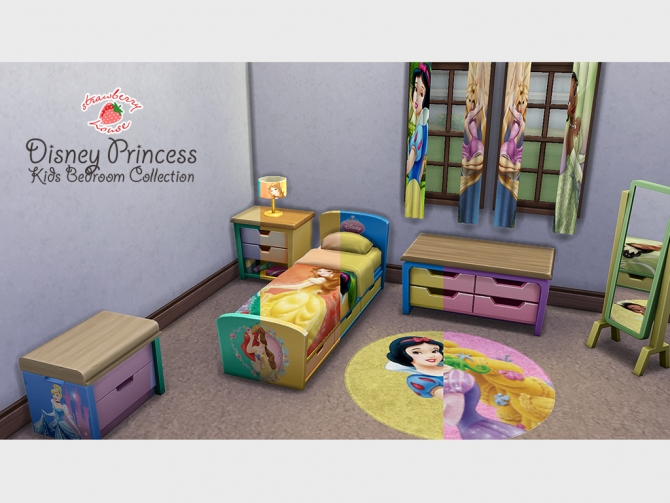 Princess Kids Bedroom By Megamutant At Mod The Sims Sims 4 Updates