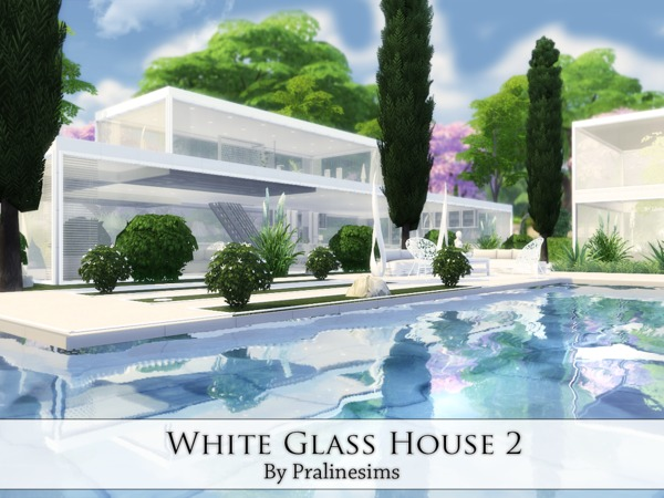 White Glass House 2 by Pralinesims at TSR image 3915 Sims 4 Updates