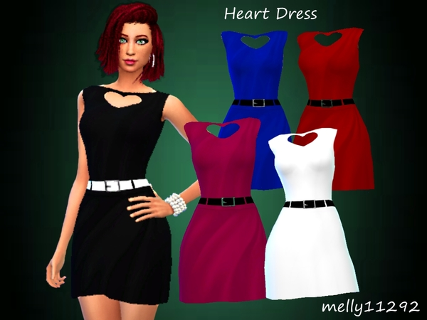 Heart Dress by melly11292 at TSR image 392 Sims 4 Updates