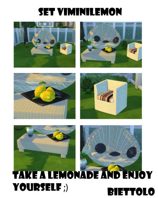 Sims 4 Set Vimini Lemon by Biettolo at The Sims Lover