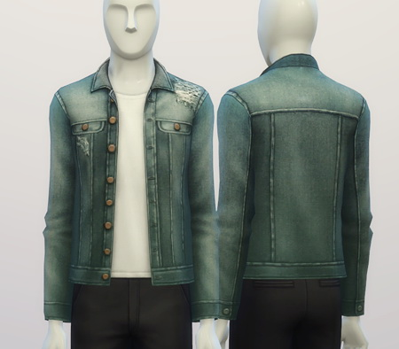 Denim jacket (9 colors) at Rusty Nail image 397 Sims 4 Updates