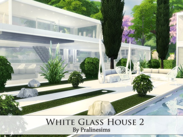 White Glass House 2 by Pralinesims at TSR image 4014 Sims 4 Updates