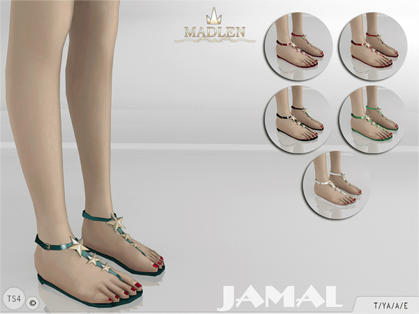 Sims 4 Madlen Jamal Sandals by MJ95 at TSR