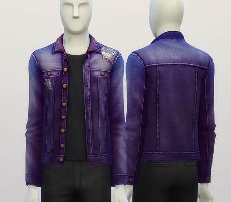 Denim jacket (9 colors) at Rusty Nail image 4111 Sims 4 Updates