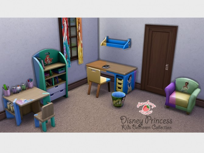 Sims 4 Princess Kids Bedroom by MegaMutant at Mod The Sims