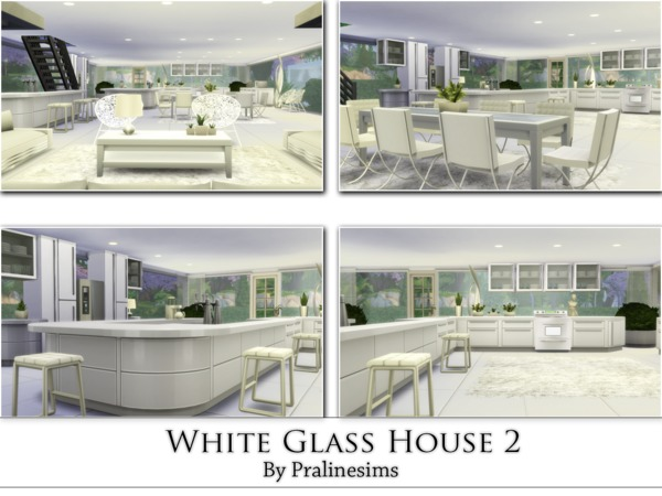 White Glass House 2 by Pralinesims at TSR image 4118 Sims 4 Updates