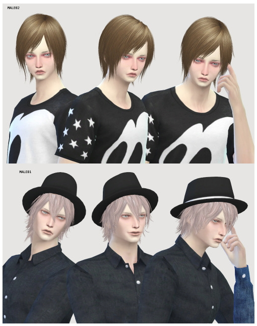 FREE SIM MALE01 & MALE02 at Imadako image 4120 Sims 4 Updates
