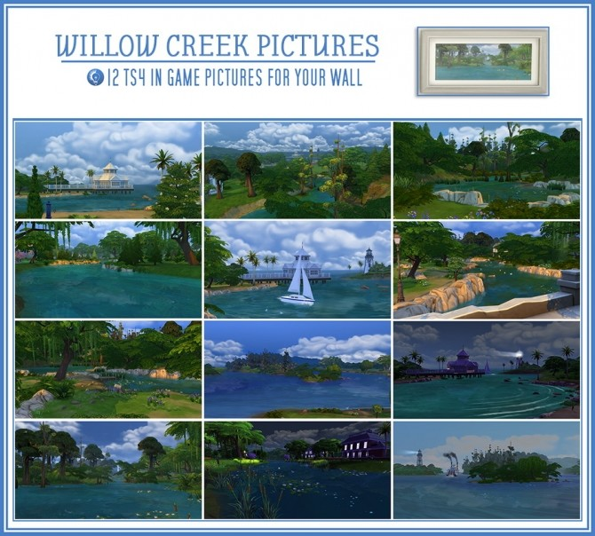 Sims 4 Granite Falls wall pictures at Jorgha Haq