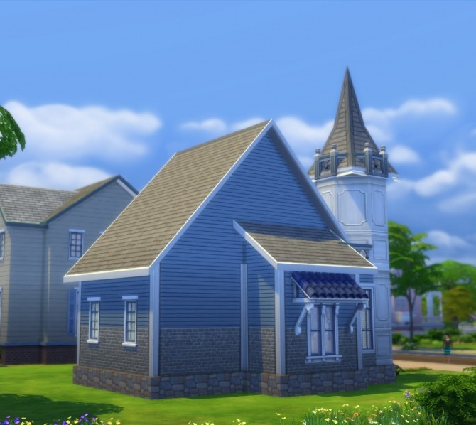 Sims 4 15 Laurel Lane Blue Rose Victorian DV by Christine11778 at Mod The Sims