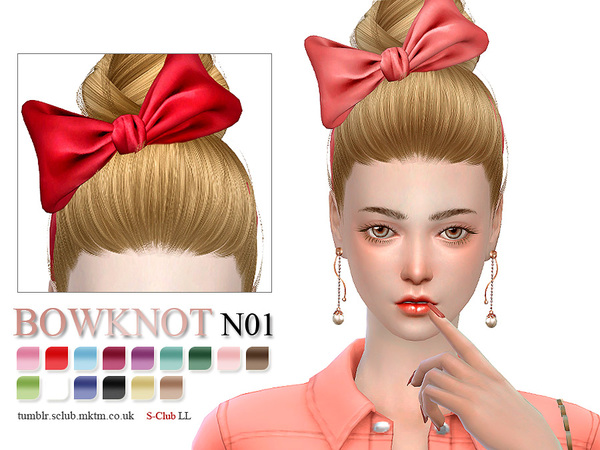 Bowknot 01 By S Club Ll At Tsr 187 Sims 4 Updates