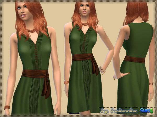 Dress Satin Belt by bukovka at TSR image 4512 Sims 4 Updates