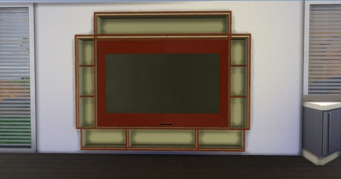 Sims 4 Simple Wall Tv by AdonisPluto at Mod The Sims