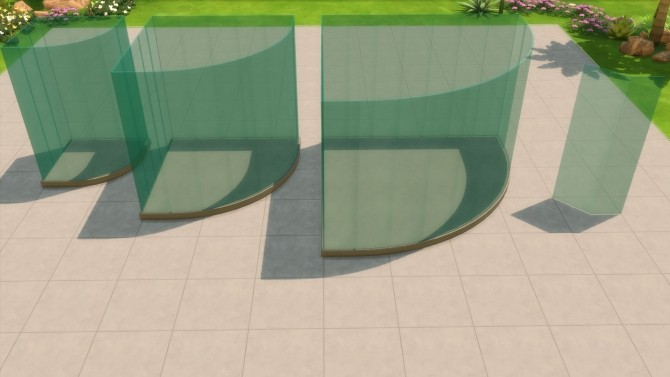 Sims 4 Blue Glass Fence by maloverci at TSR