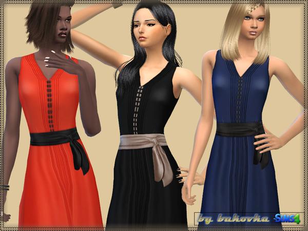 Sims 4 Dress Satin Belt by bukovka at TSR