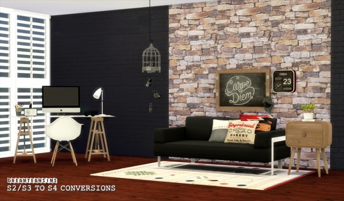 Sims 4 Marcussims91 Coral Office S3 to S4 at Dream Team Sims