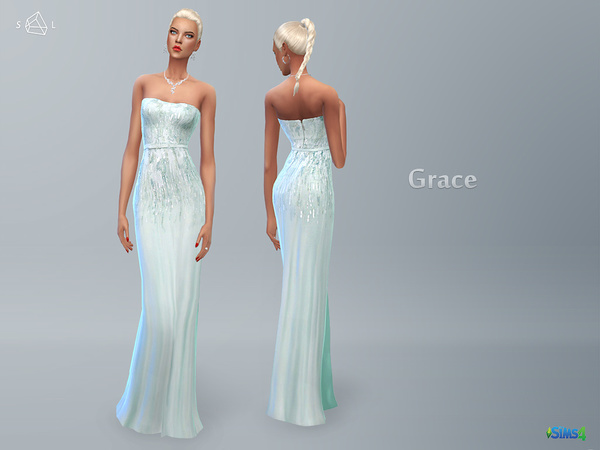Mint Strapless Gown GRACE by starlord at TSR image 470 Sims 4 Updates