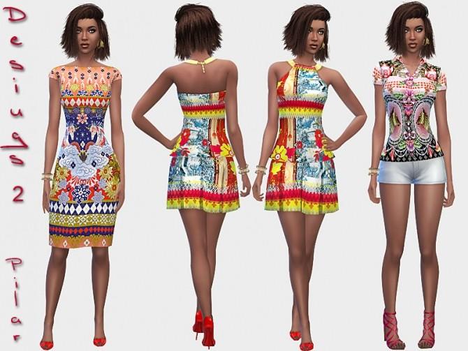 Sims 4 Designer dresses 2 by Pilar at SimControl