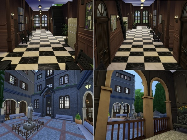 Sims 4 Internado San Patricio by casmar at TSR