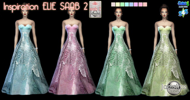 Sims 4 E.S. gown at Jomsims Creations