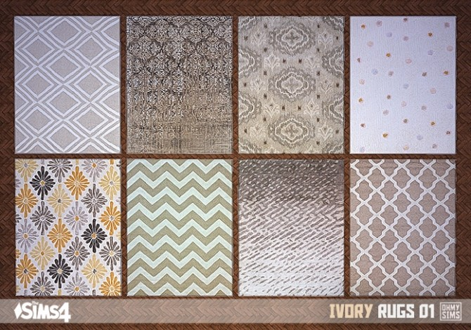 Sims 4 Ivory rugs 01 at Oh My Sims 4