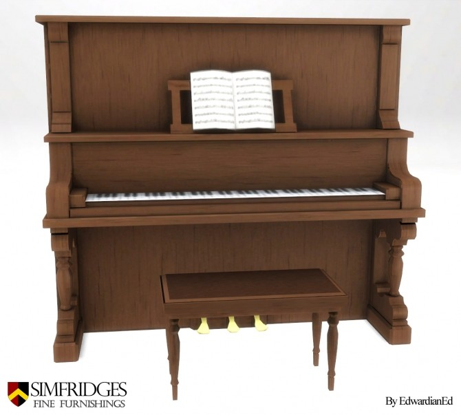 Sims 4 Chimeway & Daughters Saloon Piano by edwardianed at Mod The Sims
