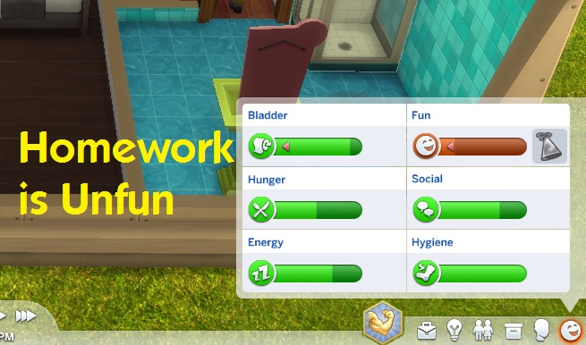 Sims 4 Homework Is Unfun by simmythesim at Mod The Sims
