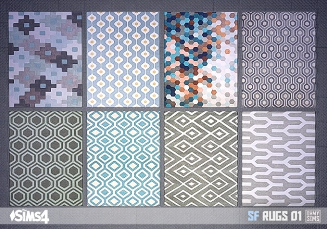 Sf Rugs 01 At Oh My Sims 4 187 Sims 4 Updates