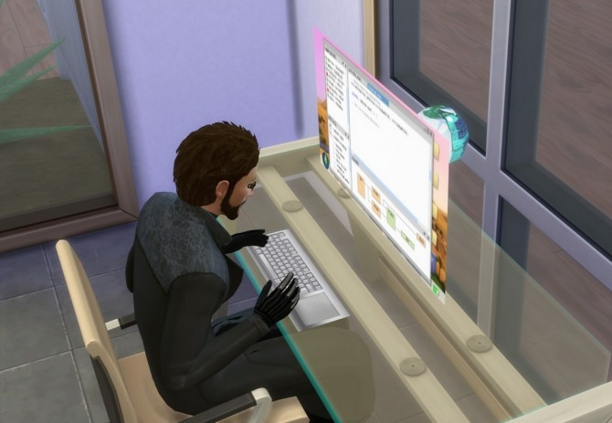 Sims 4 Holographic Computer by Esmeralda at Mod The Sims