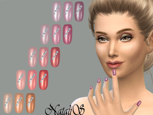 Nails with crystals by NataliS at TSR image 5127 Sims 4 Updates