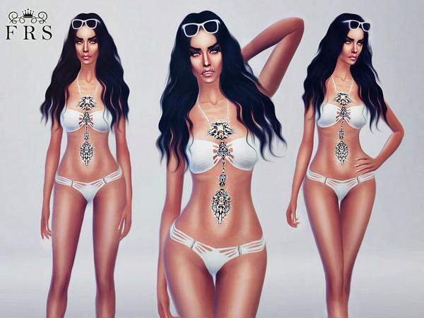 Sims 4 My Goddess Swimsuit by FashionRoyaltySims at TSR