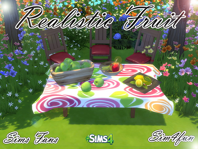 Sims 4 Realistic Fruit by Sim4fun at Sims Fans