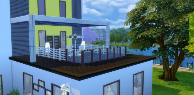 Sims 4 Yellow Rose modern mansion by una at Mod The Sims