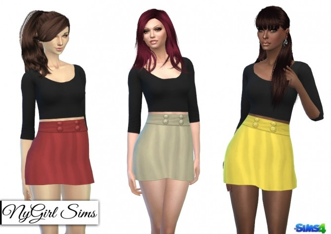 Sims 4 Belted Scoop Neck Dress at NyGirl Sims