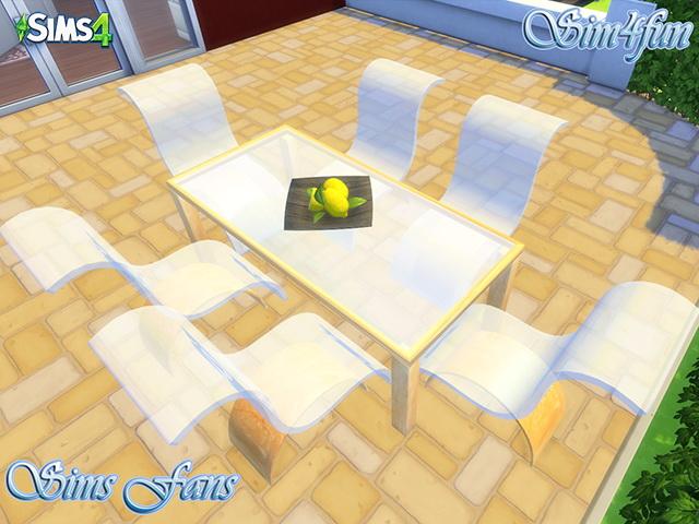 Sims 4 Modern Glass Set by Sim4fun at Sims Fans