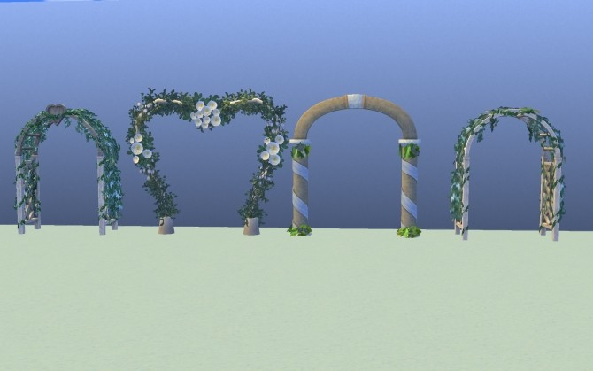 Sims 4 All Sims 3 Wedding Archs Set by g1g2 at Mod The Sims