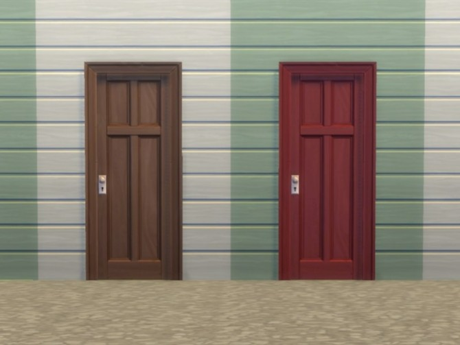 Two Tile Four Panel Door by plasticbox at Mod The Sims image 57 670x503 Sims 4 Updates